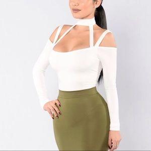 Fashion nova white bodysuit